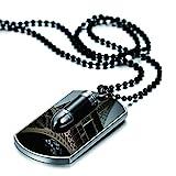 JewelryWe Schmuck Herren Halskette mit persönlicher FOTOGRAVUR | Bild & Text Wunsch-gravur,...