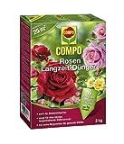 COMPO Rosen Langzeit-Dünger für alle Arten von Rosen, Blütensträucher sowie Schling- und...