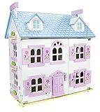 Alpine Villa Schöne Puppenhaus aus Holz mit Möbeln und Familie Puppen, Familienhaus, Häuser