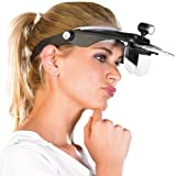 AGT Lupenbrille: Stirnlupe 'Profi' mit versch. Vergrößerungen (Stirnlupe mit Beleuchtung)