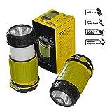 Wiederaufladbare Camping Laterne - Ultra helle 360° LED Laterne - Gleichzeitig POWERBANK für...