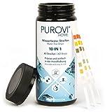 Purovi® Pooltester | Wassertest Streifen für Pool Aquarium | ph Wert Chlor Blei Nitrat Eisen | 60...