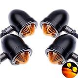 tuincyn Motorrad Blinker Leuchtmittel Okular-Motor Kontrollleuchte Blinker Lampe Montage für Harley...