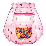 Kinder Spielzelt Princess Pop UP Zelt Bällebad Haus Burg für Mädchen zur Verwendung drinnen oder...
