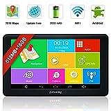 Jimwey GPS Navi Navigation für Auto LKW PKW KFZ 7 Zoll Bluetooth Android 16GB 512MB Kostenlos...