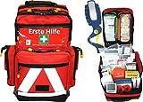 Erste Hilfe Notfallrucksack Sport, Sportvereine, Event & Freizeit - Nylonmaterial mit weißen...