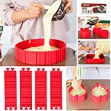DIY Flexible Cake Mould Silicone Cake Mould Non-Stick Bake Snake For Baking Or Design Each Shape 4...
