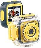 Somikon Kinderkamera: Kinder-HD-Actioncam mit Unterwasser-Gehäuse & 6 virtuellen Foto-Rahmen...