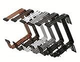 Siena Garden 897718 Blumenkastenhalter Premium 3-fach verstellbar vormontiert feuerverzinkt 2er Pack