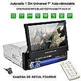 Autoradio CATUO + Bildschirm ausfahrbar + 7' High Definition HD Touchscreen Display + GPS +...