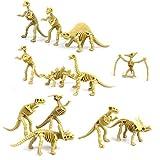 NUOLUX 12st assortierte Dinosaurier Fossil Skelett Figuren Kinder Spielzeug