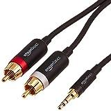 AmazonBasics Cinch-Audiokabel, 3,5-mm-Klinkenstecker auf 2 x Cinch-Stecker, 2,44m