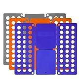 Foldplex Flipfold-Hemd-Folder-T-Shirt Ordner-Faltbrett (grau / blau / orange)