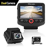 Dashcam 1080P Full HD, Vikcam Auto Kamera Vorne und Hinten Dual Linse, Auto Fahrzeug DVR Recorder...