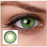 Eye Effect farbige Kontaktlinsen 'cool green' 2x grüne Kontaktlinsen ohne Stärke + gratis...