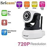 Sricam SP017 IP Kamera 720P Wlan Überwachungskamera ONVIF IP Cam Pan / Tilt P2P 2 Wege Audio Baby...