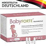 BabyFORTE FolsäurePlus Vitamine • 60 Kapseln • 400/800 mcg Folsäure • Für Kinderwunsch,...