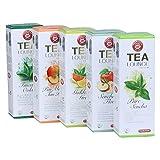 Teekanne Tealounge Kapseln - Grüner Tee Sortiment mit 5 Sorten (40 Kapseln)