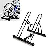 FEMOR Fahrradständer Bodenparker Fahrradparker für 2 Fahrräde Mehrfachständer Twin Bicycle Stand...