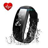 Fitness Armband Herzfrequenz, Runme Fitness Tracker Aktivitätstracker mit Schlafüberwachung, IP67...