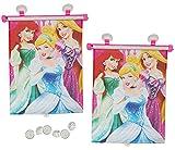 2 tlg. Set Sonnenschutz Rollo - Disney Prinzessin - Arielle Rapunzel Cinderella - für Fenster und...
