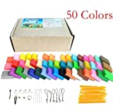 Polymer Clay,Worsendy Polymer Ton 50 Farben Fimo Clay Ofen Figur DIY Basteln Scrapbooking und...