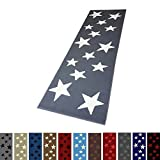 Moderner Läufer Teppich Brücke Teppichläufer Sterne Stars verschiedene Farben ca. 80x250 cm,...