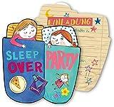 6 Einladungskarten * SLEEPOVER * für eine Übernachtungs-Party // von DH-Konzept // Kinder...