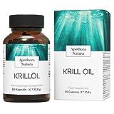 Apotheca Natura Krillöl, Omega 3 Kapseln aus der Antarktis, Nachhaltig gefangen, MSC zerfiziert,...
