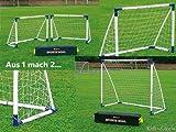Fußballtor für Kinder 4356016, 2 Tore (B 130 x H 100 cm) oder 1 Tor (B 180 cm x H 165 cm),...