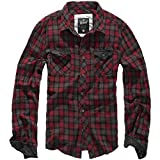 Brandit Checkshirt Duncan Red-Brown M