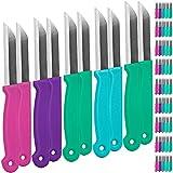 100 Stück Schälmesser Küchenmesser Gemüsemesser Allzweckmesser Messer Set - verschiedene Farben...