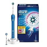 Oral-B Pro 3000 Elektrische Zahnbürste, mit Timer, CrossAction und Sensitive Aufsteckbürsten,...