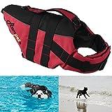 Petacc Schwimmmantel Reflektierende Hunde-Schwimmweste Verstellbare Schwimmweste mit großem...