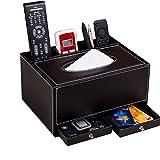 1X Toruiwa Tissue Box PU Leder Taschentücher Halter Aufbewahrungskiste für Home Office schwarze