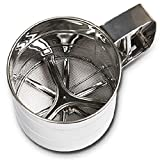 Hand Cup Mehlsieb Edelstahl Mehlsieb Bakeware-Werkzeug (S)