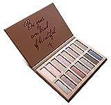 Beste Lidschatten Palette Nudetöne - Vegane Augenpalette - Eyeshadow Make Up Kosmetik - 16...