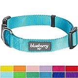 Blueberry Pet Hundehalsband Klassisch Einfarbig 1,5 cm S Basic Polyester Nylon Hundehalsband...