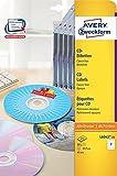 Avery Zweckform, L6043-25, CD_Etiketten, 25 Blatt, ClassicSize