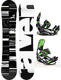 Snowboard Set: Snowboard Raven Supreme 2017 + Bindung Raven s220 Green XL (155cm Wide)
