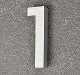 nanook Aluminium Massiv Hausnummer 'Scala' - 100 x 14 mm - Nr. 1