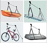 Deckenlift Deckenhalter Fahrradlift 45kg Fahrradgarage Fahrradhalter Seilzug für E-Bike und Bike