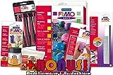 Profi Modellierset Staedtler 8023 02 Fimo soft 24er Materialpackung + Cutter, Schleifschwämme,...