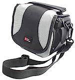 Camcorder-Tasche für Aiptek AHD H500 Full-HD Camcorder, mit Tragegurt, schwarz / grau