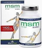 Der VERGLEICHSSIEGER 2018* MSM Kapseln 1400mg MSM-Pulver (Methylsulfonylmethan) + Vitamin C - 365...