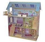 roba Puppenhaus, Puppenvilla inkl, 16 Puppenmöbel, Mädchen-Spielzeug liebevoll bedruckt