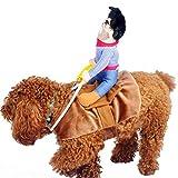 UEETEK Haustier Kostüm Hund Kostüm Kleidung Haustier Outfit Anzug Cowboy Rider Style, passt Hunde...