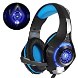 Gaming Headset für PS4 PC Xbox One, Beexcellent LED Licht Crystal Clarity Sound Professional...