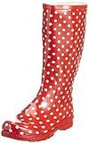 Playshoes Gummistiefel Punkte aus Naturkautschuk 190100, Damen Gummistiefel, Rot (rot 8), EU 39