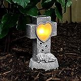 solarbetriebener, geschmackvoll, gediegen und liebevoll gestalteter Gedenkstein für Ihren Hund, von...